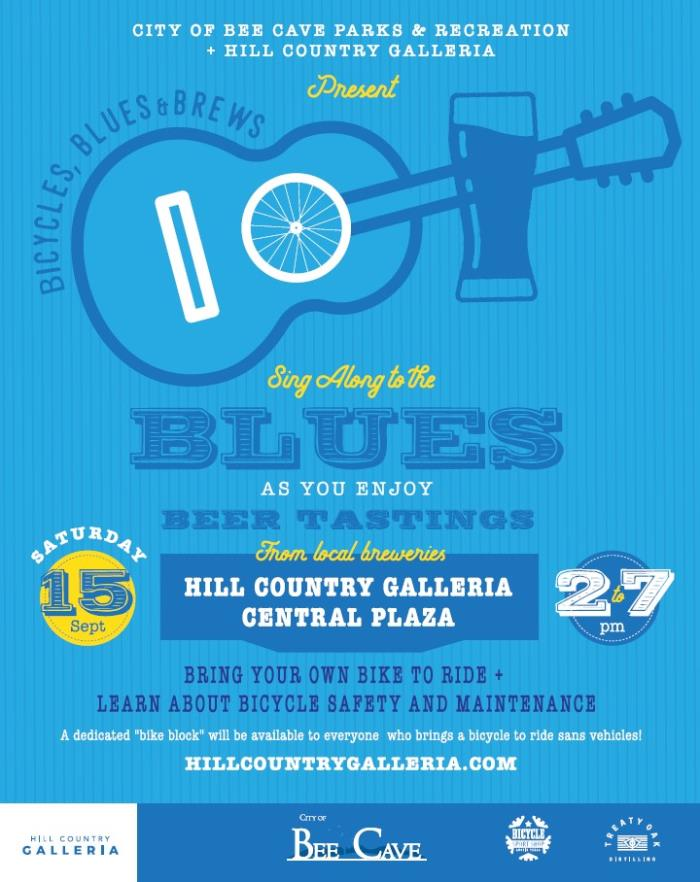 Bicycles, Blues & Brews | Calendar Month View | Bee Cave, TX