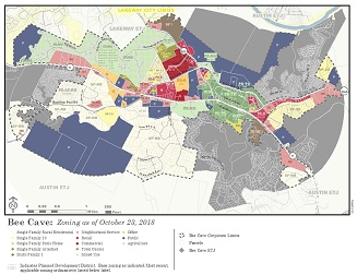 Maps | Bee Cave, TX City Of Austin Zoning Map on